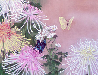 Chrysanthemum and butterfly 宝居智子 Gallery